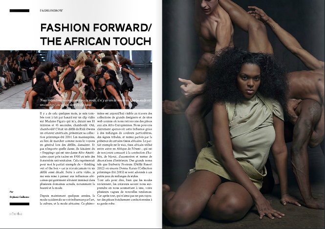 Editorial + Feature for Magazines and Brands, FASHION FORWARD/THE AFRICAN TOUCH, bizart magazine, paris, FASHION FORWARD, THE AFRICAN TOUCH, Turning Point Blog feature 2, african fashion, african influence
