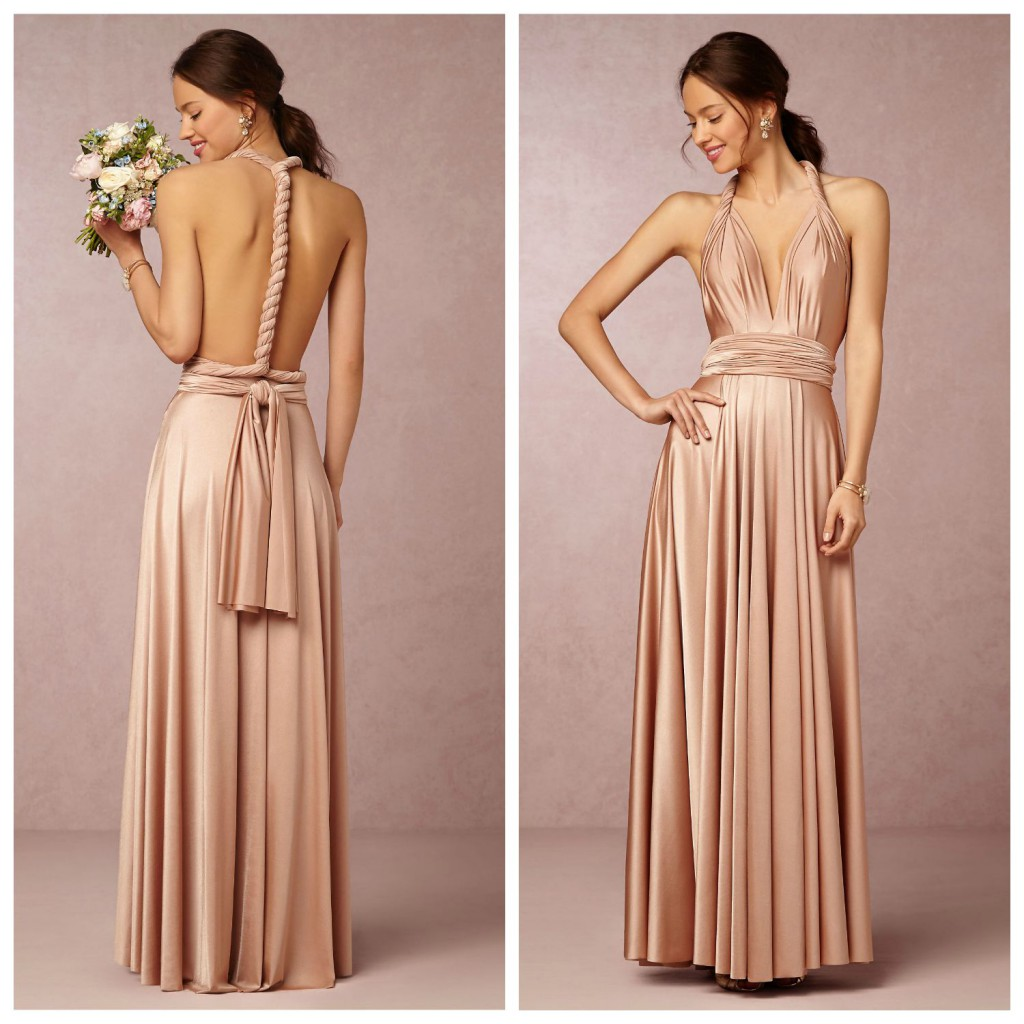 Bridesmaids dresses selection turning point httpaislestyleconvertible pleated shoulder strap long ombrellifo Image collections